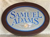 "Samuel Adams Bar Mirror Oval Wood Frame 23""x 17"""
